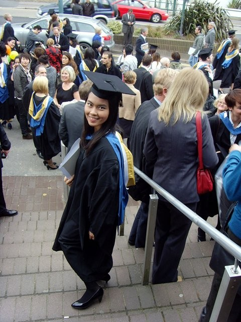 On graduation day (Vern)