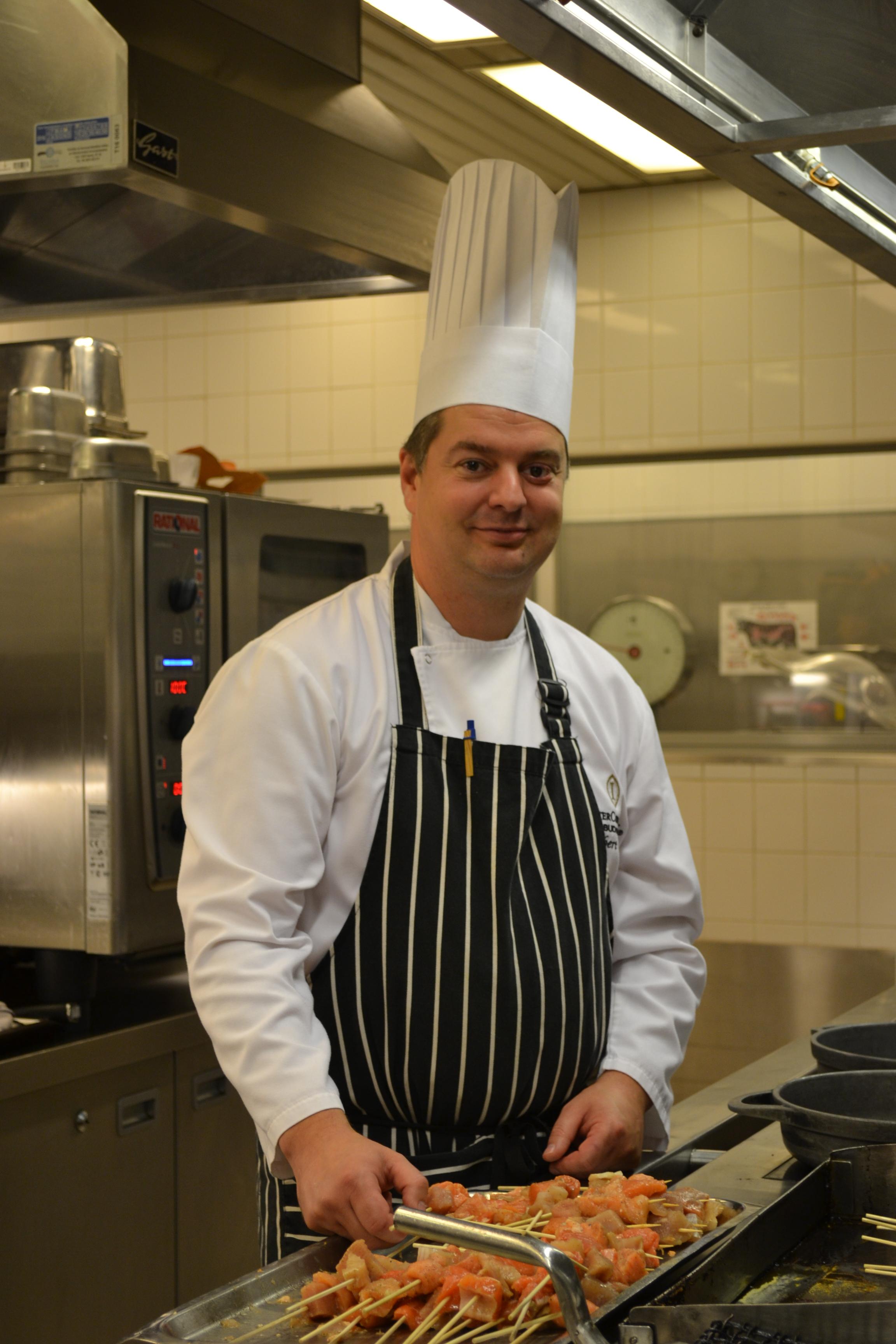 Robert Melis in the kitchen