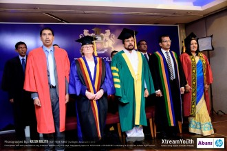 From left to right: Dr. Priyantha Padmasiri (Chairman of Thames College, Sri Lanka), Mrs. Angela Hagenow (Academic Director, CTH UK),  Mr. Mohan Lal Grero (State Minister of Higher Education, Sri Lanka), Mr. Chinthana Vithanage (Managing Director) and Ms. Sanju Dissanayake (CEO and Head of Academics)